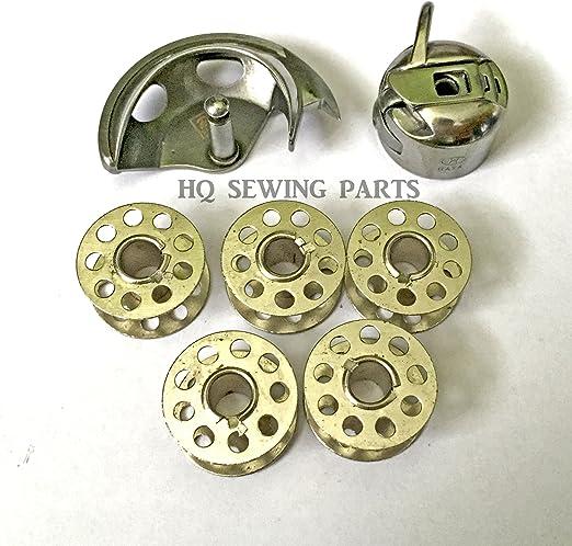 Juego de portabobinas y 5 bobinas para máquina de coser: Amazon.es: Hogar