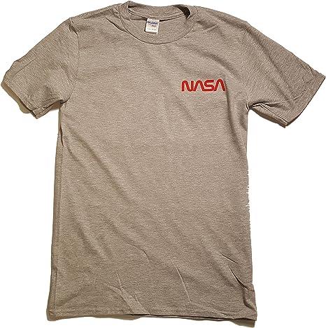 el Distintivo Logotipo de Gusano NASA con Licencia Camiseta para Hombre Premium (Impresión de Vinilo) - para Hombre Gris X-Large: Amazon.es: Ropa y accesorios