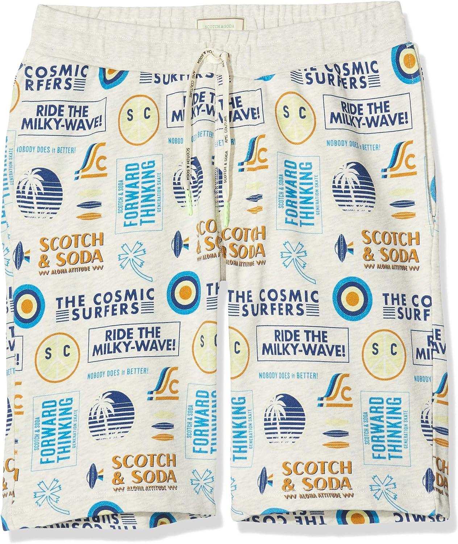 Scotch /& Soda Boys All-Over Printed SweatShorts Trouser