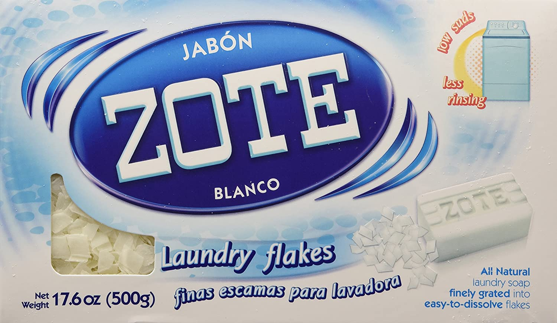 Jabon Zote Blanco Finas Escamas Para Lavadora (Laundry Flakes for Washiing Machines), 17.6 Oz., (Pack of 1)