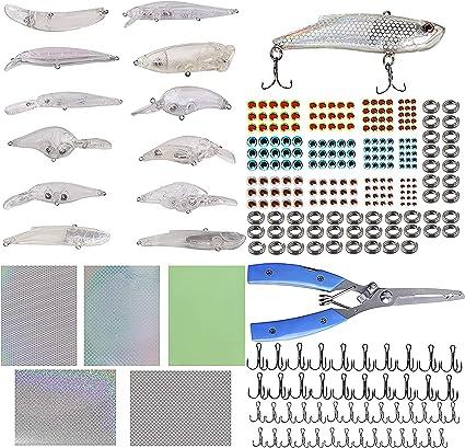 Details about  /5pcs Blank Hard Lures Kit Unpainted Fishing Baits Sets Crankbait Freshwater Fish