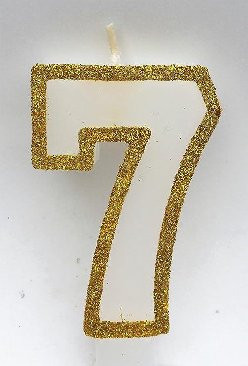 Amazon.com: Número de wasiwax (7) Vela de cumpleaños – El ...
