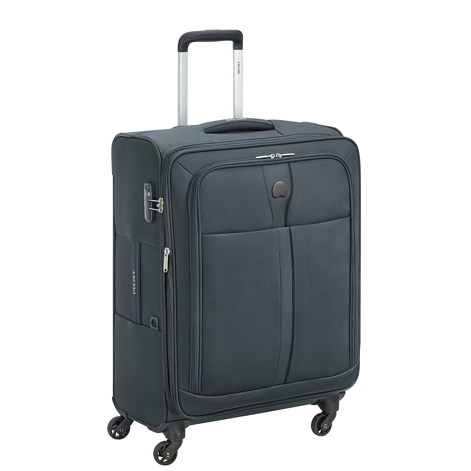DELSEY Polyester 62 cms Anthracite Softsided Check-in Luggage (MALOTI)