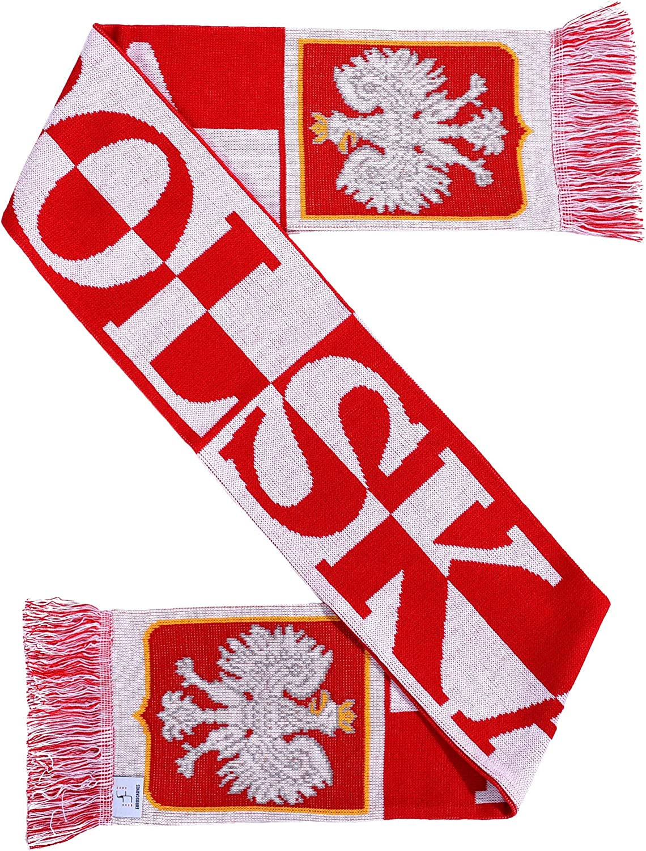 Polska Poland Soccer Knit Scarf
