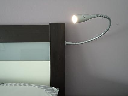 2er Set LED Bettbeleuchtung ALPHA, Nachttischlampe, Bettbeleuchtung ...