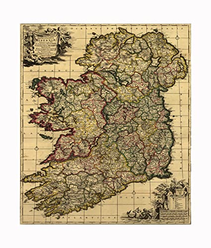 Large Map Of Ireland.Amazon Com Chrome Domz Map O Ireland Large Chrome Home Kitchen
