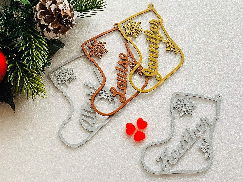 Personalised Name Custom Bauble Christmas Tree Decoration Customised Any Colour