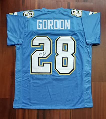 ee536cce3 Melvin Gordon Autographed Signed Jersey San Diego Chargers Beckett ...