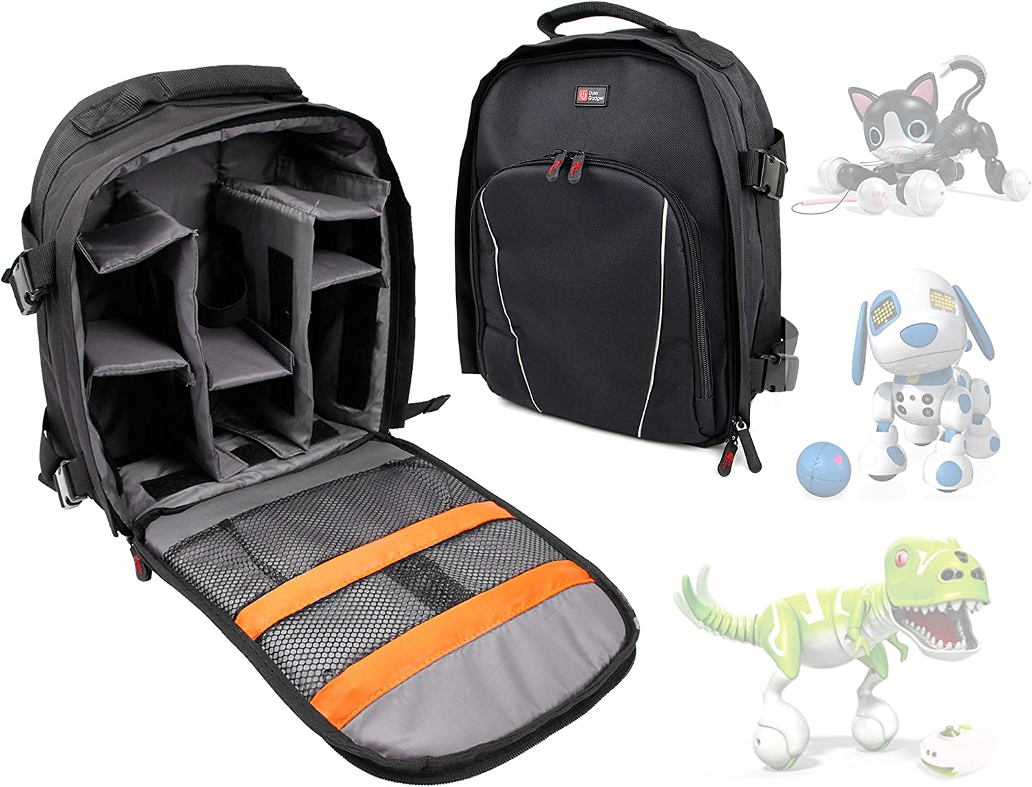 Zuppies Kids Robot Animals with Raincover Dino Backpack For Zoomer Kitty