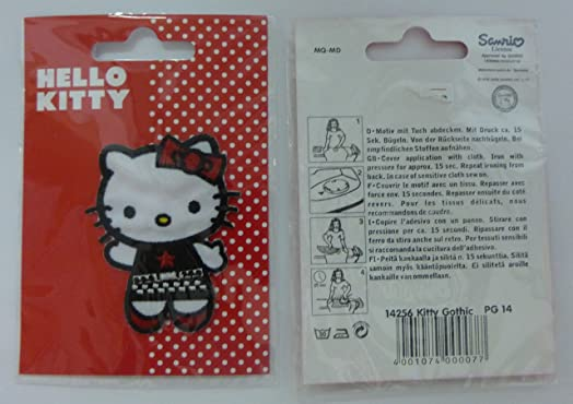 Hello kitty gothic cm cm rockabilly sew on appliqué