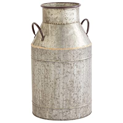 "Stone & Beam Vintage Milk Planter, 18.5""H, Galvanized: Home & Kitchen"