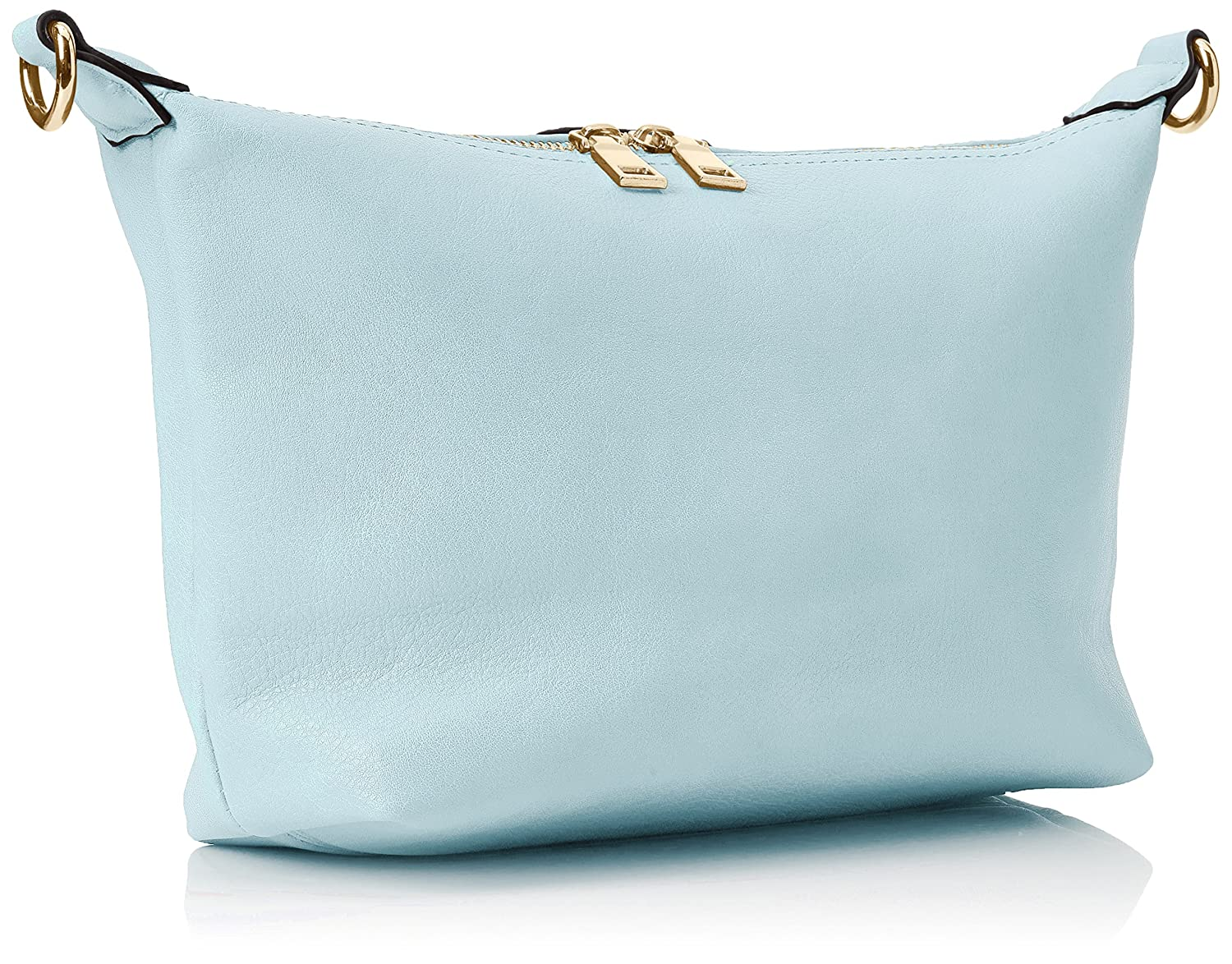 Damen Caprice Shoulder Bag Umhängetasche, Blau (Light Blue), 11x26x28 cm Swankyswans