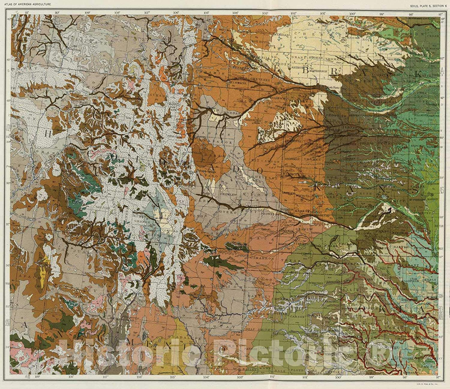 Amazon.com: Historic Map | National Atlas | 1931 Soil Map of The ...