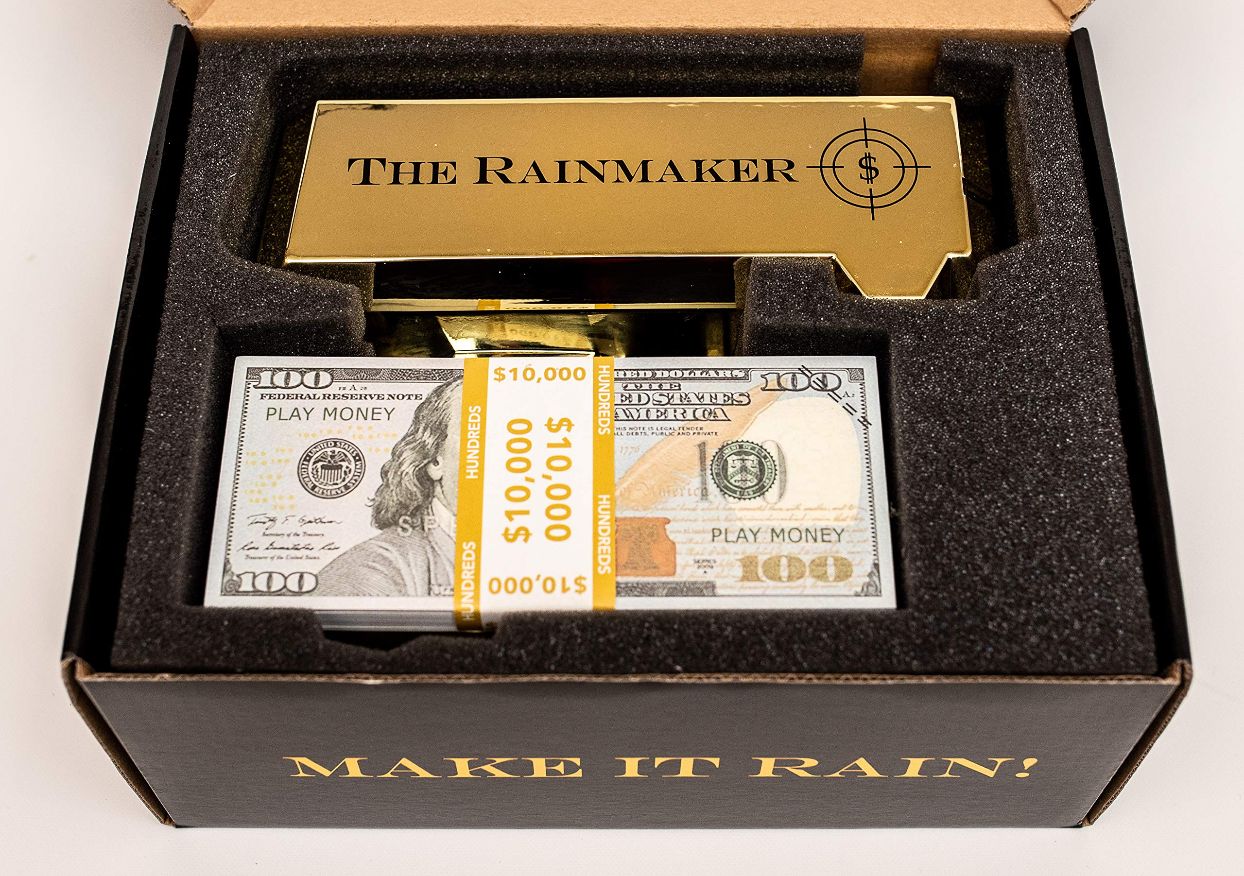 All Out Solutions The Rainmaker Money Gun | $10,000 Play Money | Money Looks Real! | Metallic Gold | Impress Your Friends with This Fun Party Toy | Shoot Cash and Make It Rain by All Out Solutions (Image #7)