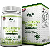 Probiotics 180 Capsules (6 Month Supply), Vegetarian Multi Strain Probiotic, High Strength Probiotic Includes Lactobacillus Acidophilus & Bifidobacterium, Capsules not Tablets by Nu U Nutrition