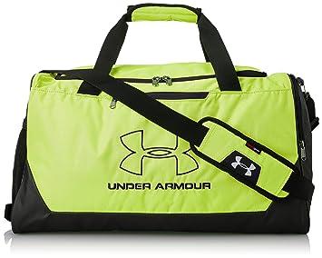 Under Armour Hustle-R Duffel Bag, High-Vis Yellow /Black, One Size