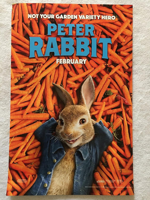 Peter Rabbit 11 X17 D S Original Promo Movie Poster James Corden 2018 At Amazon S Entertainment Collectibles Store