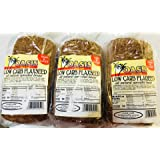 Oasis Low Carb Flaxseed Bread- All Natural and Sprouted- 3 Loaves
