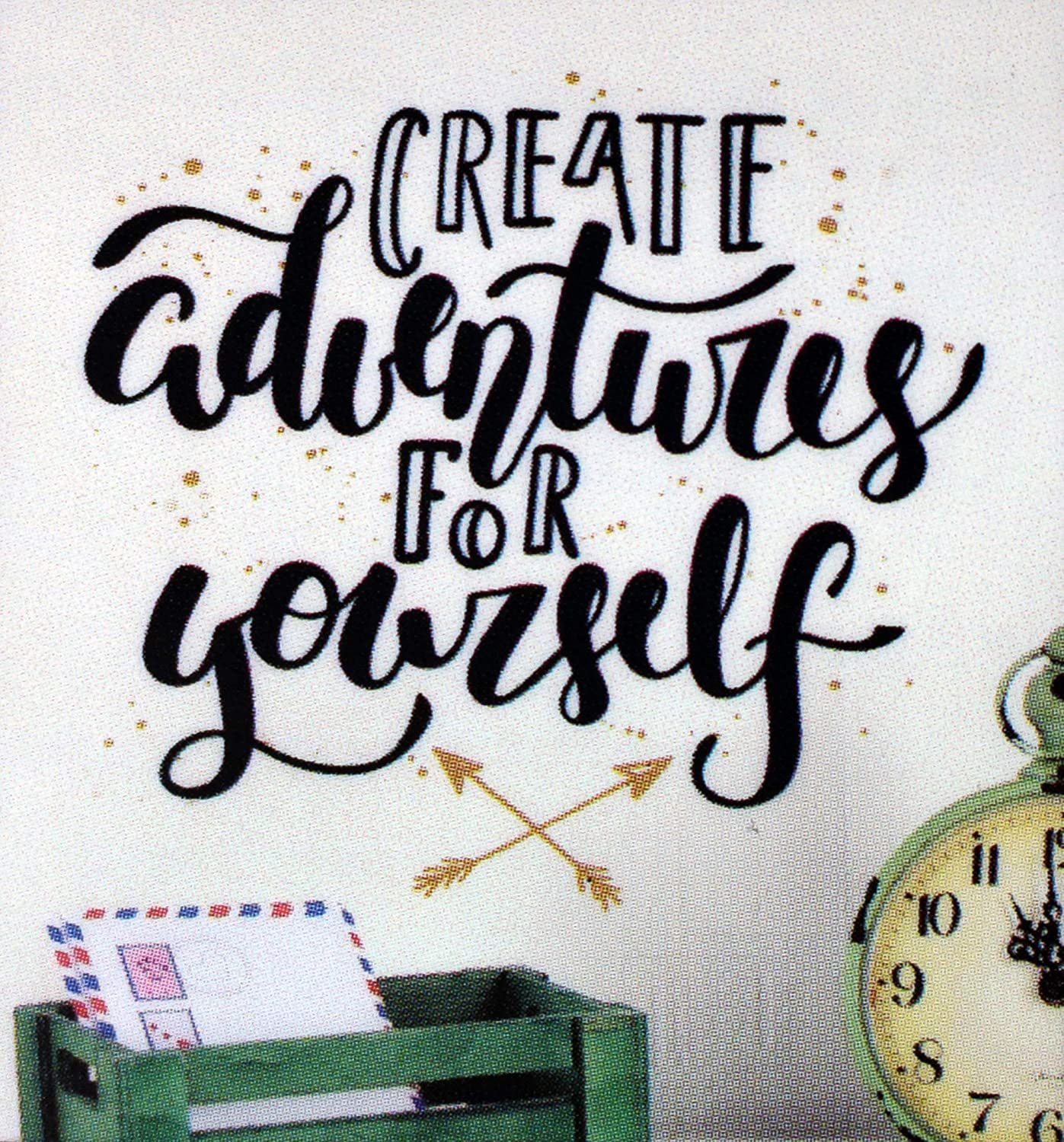 Inspirational Quote Bedroom Peel and Stick Create Adventure for Yourself Creative Decal DIY Self Sticking Vinyl Living Room Wall Sticker