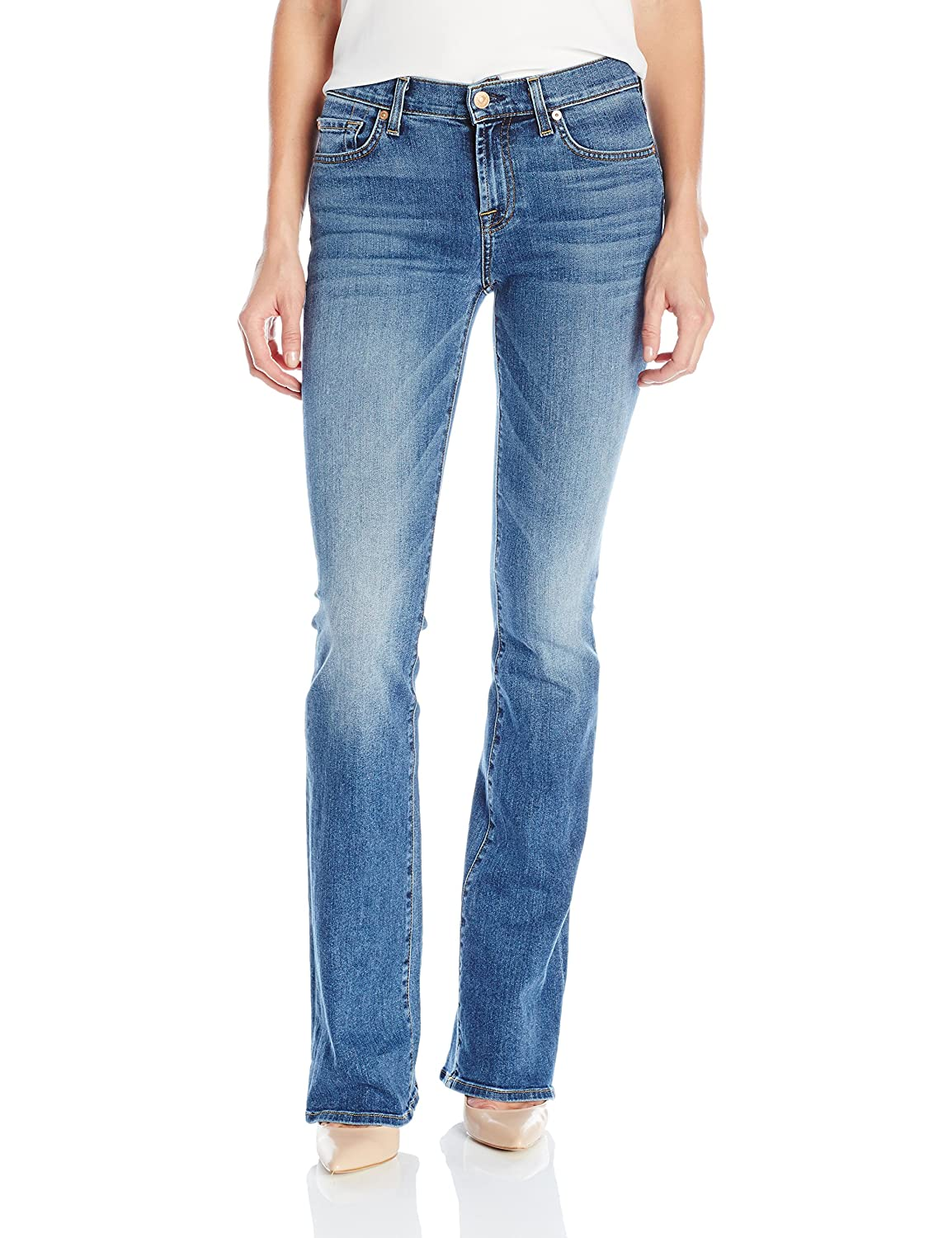 7 For All Mankind Women's the Bootcut Jean in Hyde Park