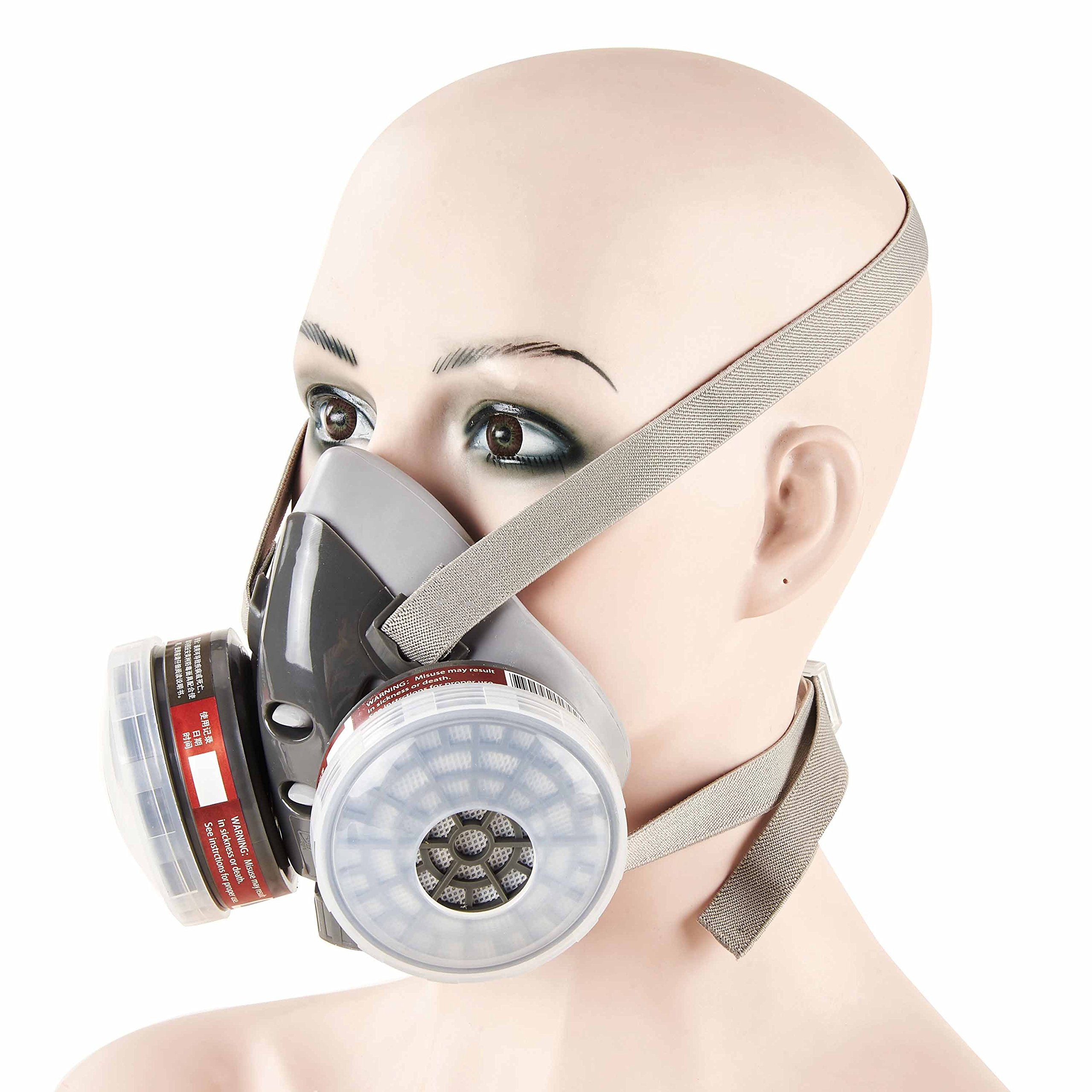 Mufly Respirator Anti -Dust Industrial Mask PM 2.5 Half Face Piece Reusable Respirator Paint Breathing Mask Face Protection by Mufly (Image #2)