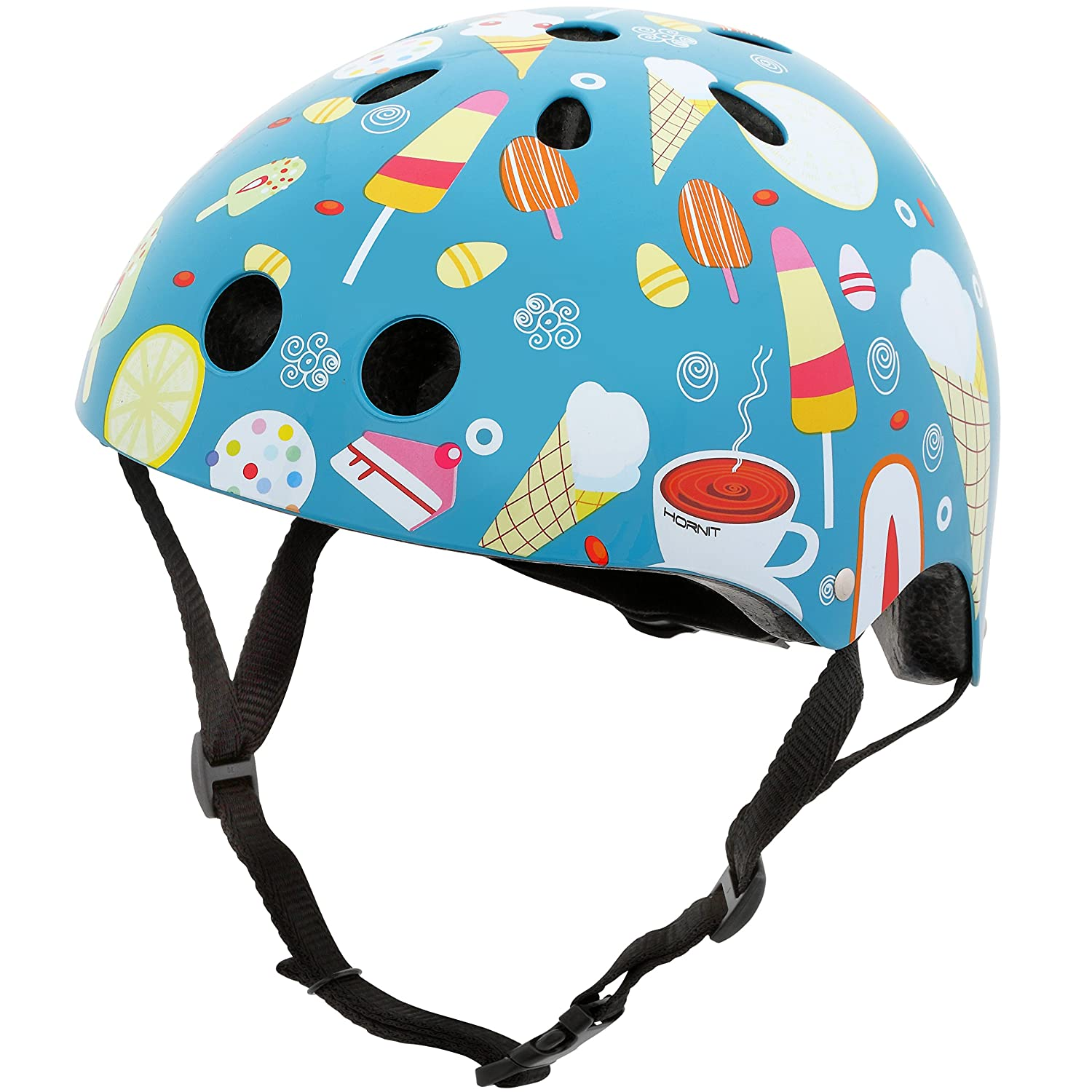 Hornit Mini Lids Multi-Sport Helmet with Rear Light CPSC Certified for Biking, Skateboarding, and Skating Fully Adjustable for Comfort and Safety