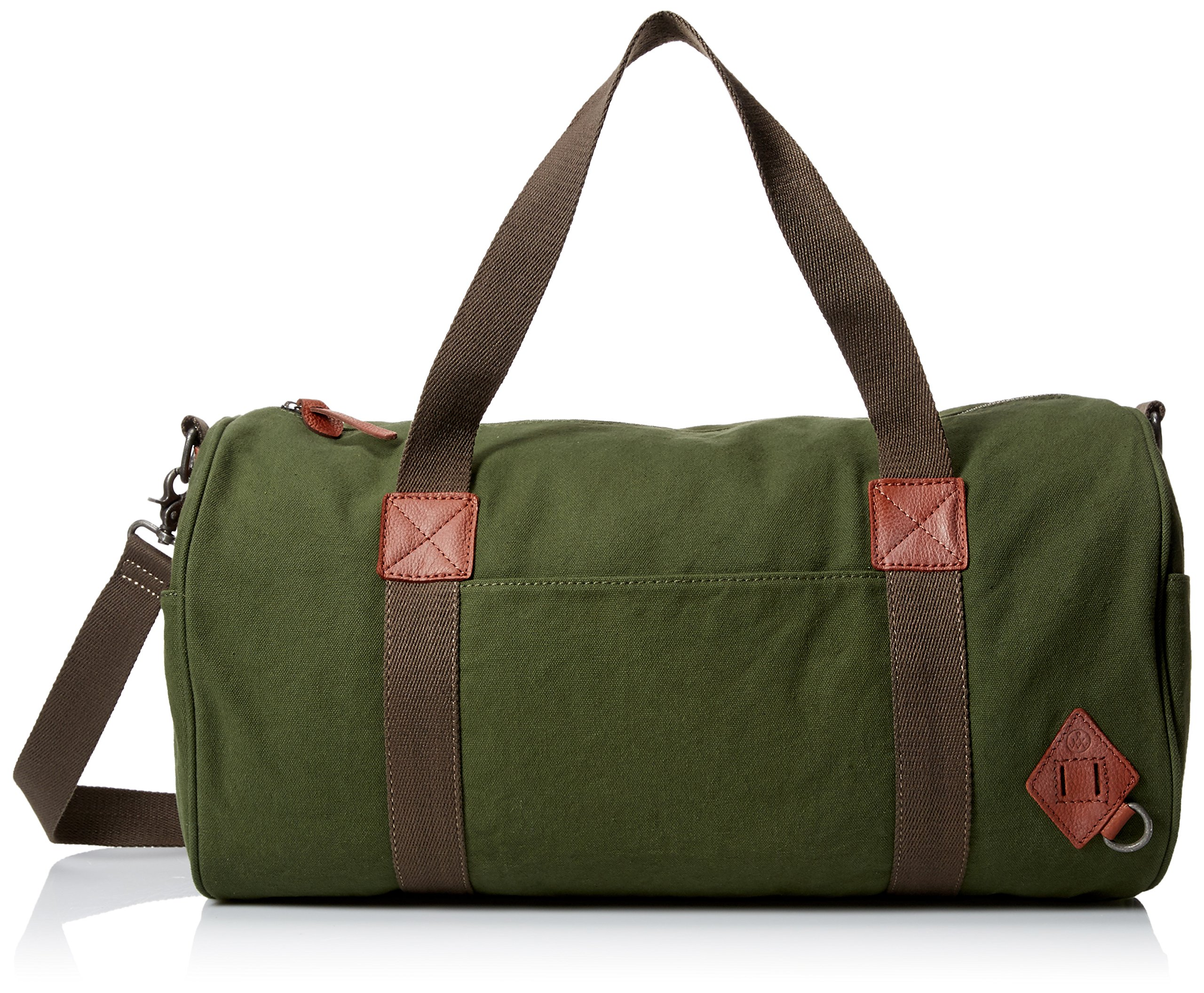 Alternative Men's Cotton Barrel Duffle Duffel Bags, Olive, One Size