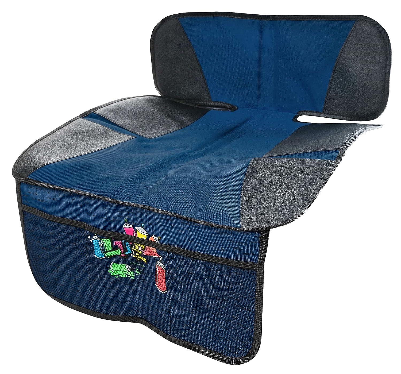 Walser 12144 Kindersitzunterlage, Autositzauflage, Schutzunterlage, Rücksitzschoner, Sitzschoner - Tidy Fred Rücksitzschoner