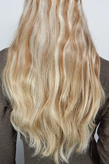 Amazon Com Layered Halo Hair Extensions 20 Inch 8 613 Blonde