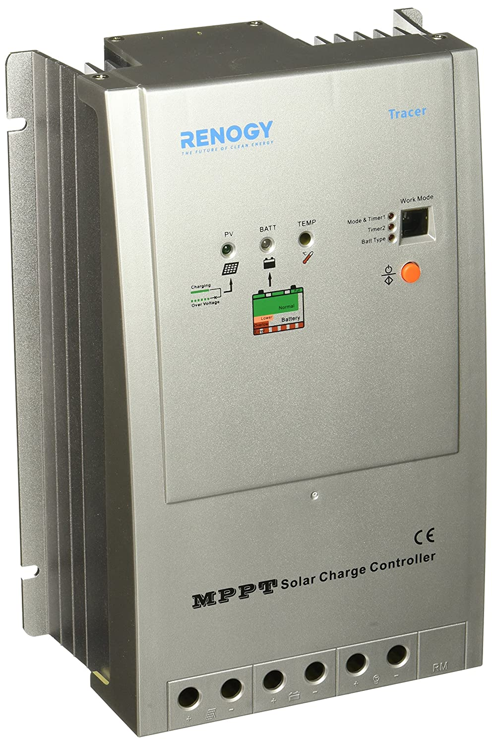Renogy Tracer 4210 40 Amp Mppt Charge Controller 12 Solar 24v 100vdc Input Renewable Energy Controllers Garden Outdoor