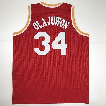 Unsigned Hakeem Olajuwon Houston Red Custom Stitched Basketball Jersey Size  Men s XL New No Brands  96741511e