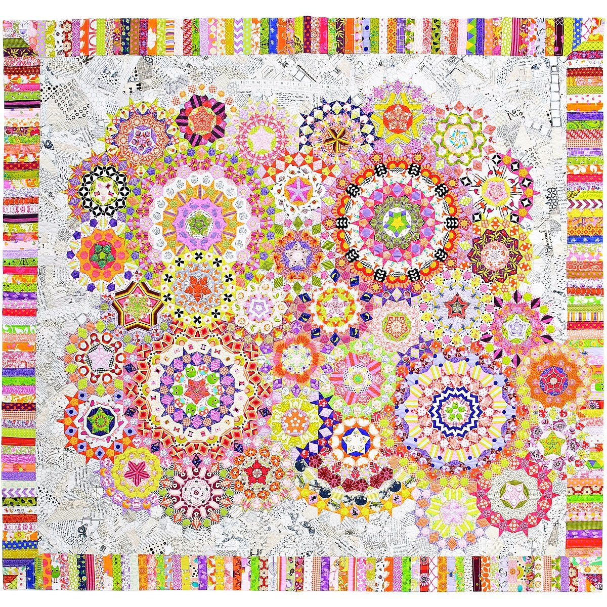La Passacaglia Quilt - Millefiori Quilts by Willyne Hammerstein (Original 1/4'' Templates and Papers)