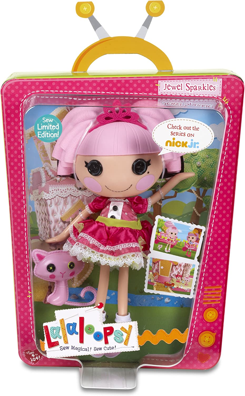 CEACO® KIDS 60pc LALALOOPSY JEWEL SPARKLES GLITTER PUZZLE Jig Saw DISTRESSED BOX
