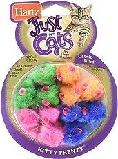 HARTZ Juguete para Gato Kitty Frenzy 12 Pz, Colores Surtidos