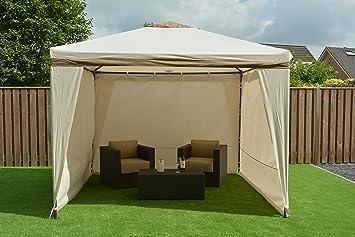 Pavillon Robust Set : Amazon sorara stählern pavillon party zelt beige sand