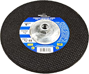 Depressed Center Wheel 24 Grit Hardness R 6 in Dia 45 Pack 1//4 in Thick Type 27