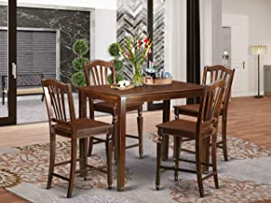 5 Pc counter height Table and chair set-pub Table and 4 Dining Chairs.