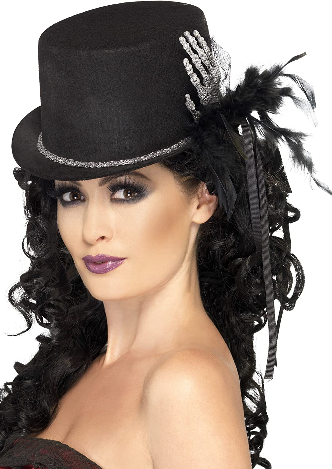 Mini Tophat Adult Womens Smiffys Fancy Dress Costume Accessory