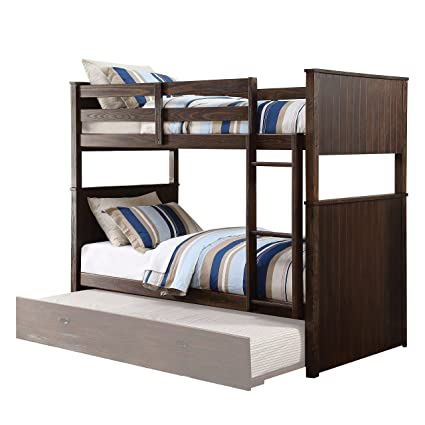 Amazon Com Acme Furniture 38020 Hector Bunk Bed Antique Charcoal
