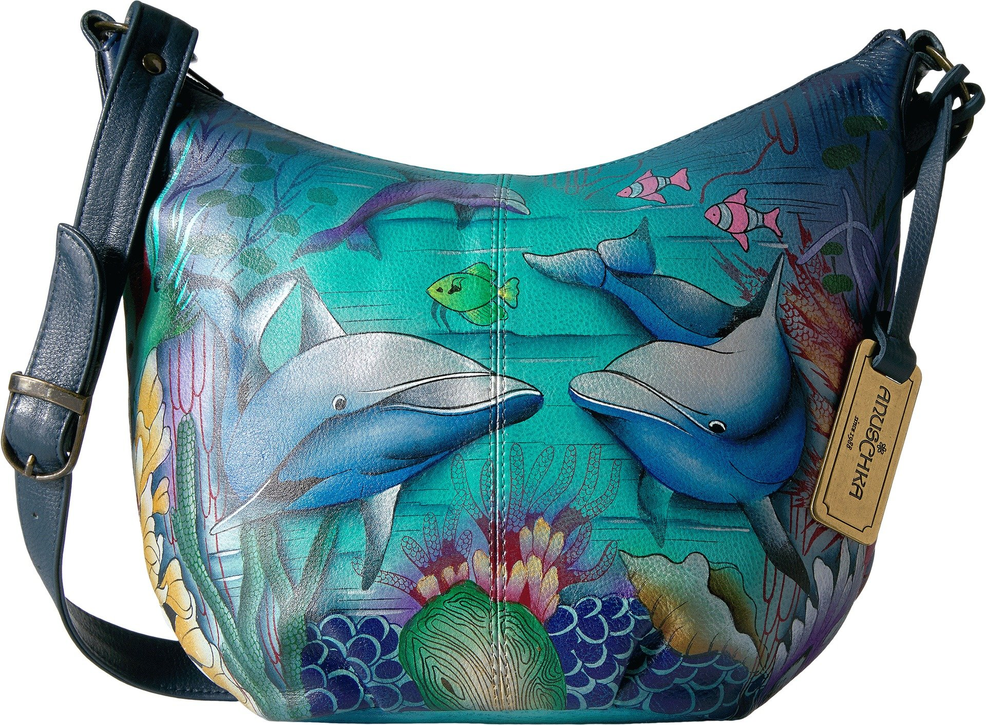 Anuschka Medium Bucket Hobodolphin World, Dolphin World