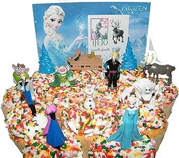 Amazon.com: Disney Frozen Figure Set Mini Cake Toppers Mini ...
