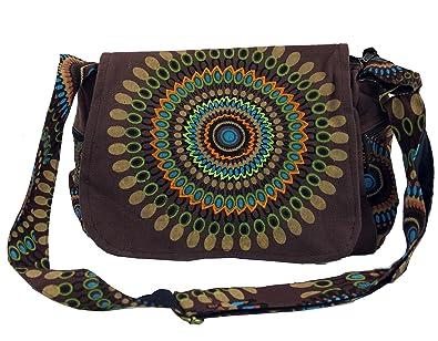 Guru Shop Schultertasche, Hippie Tasche, Goa Tasche Braun