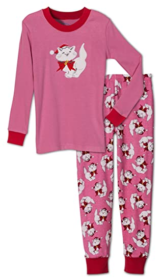 saras prints girls holiday christmas cat 2 piece pajama set