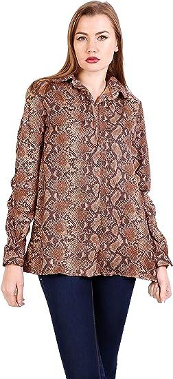 Ciao Milano - Camisas - Camisa - con Botones - para Mujer S: Amazon.es: Ropa y accesorios