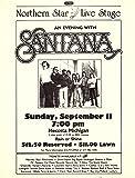 SANTANA 1983 Vintage Concert Flyer Mecosta Michigan Northern Star Live Stage