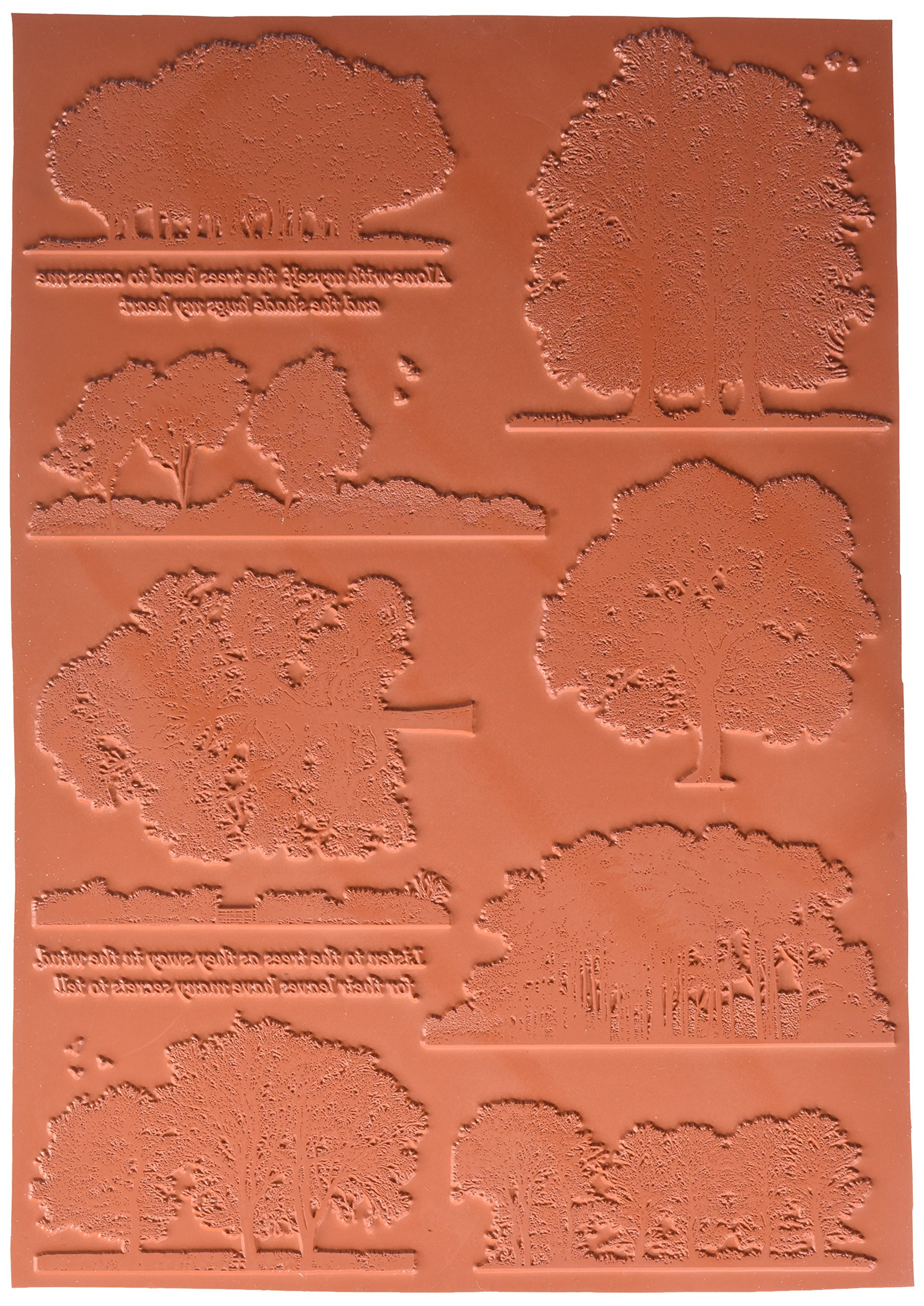 Crafty Individuals CI-450 Unmounted Rubber Stamp, 8'' x 11.5'', Listen to The Trees, Red by Crafty Individuals