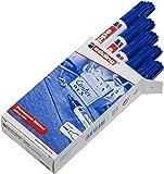 edding 3300-003 - Marcador permanente, 10 unidades, color azul