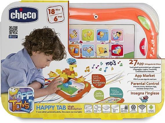 Chicco App Toys Gioco Happy Tab Bianco Nuova Versione