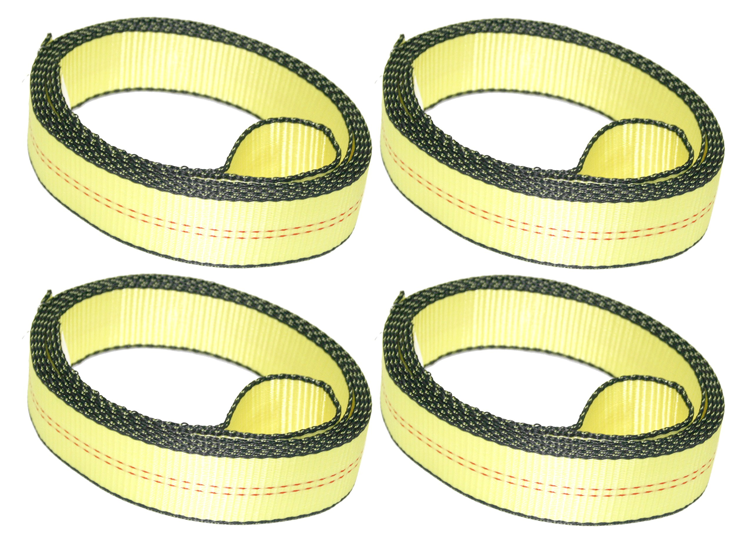 "DKG-307 Over The Tire Car Tie Down Straps for Trailers – 2"" x 10' Lasso Car Cargo Straps with Soft Sewn Loop – Reliable Auto Hauling Wedge Trailer Tie Downs (4 Pack)"