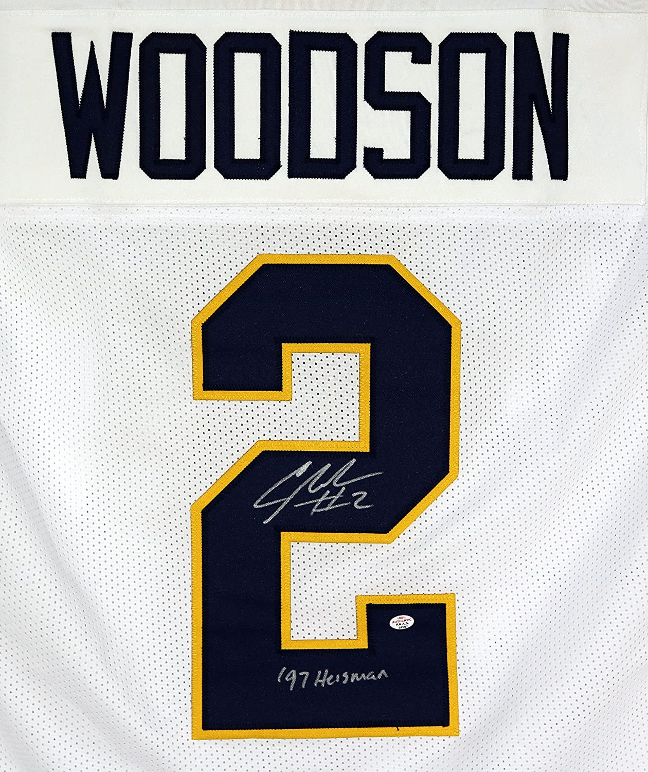 Charles Woodson Michigan Signed Autographed White #2 Custom Jersey PAAS COA